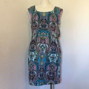 New York & Co. sleeveless paisley dress NWT